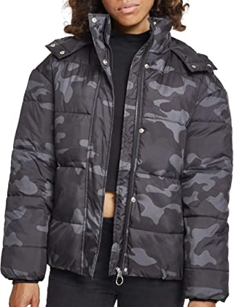 74b32d2d962a3 Urban Classic Women's Ladies Boyfriend Camo Puffer Jacket, Multicolour ( darkcamo 00707), ...