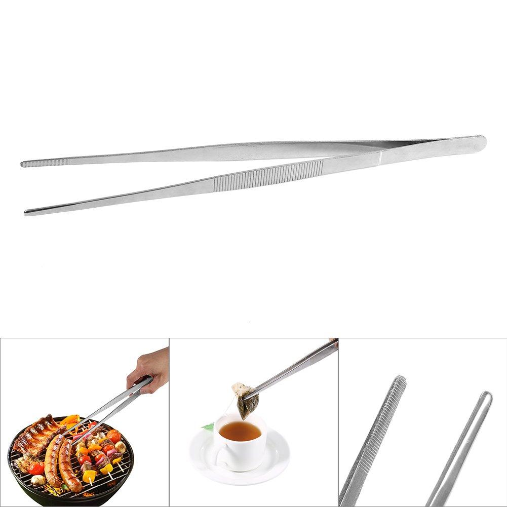 Pinzas de 5 piezas Largas Pinzas de cocina 30 cm Delaman acero inoxidable Pinzas rectas Herramienta de cocina
