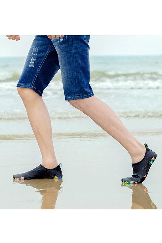 Water Shoes Barefoot Shoe Quick Dry Aqua Socks for Men Women Blackwhite 8.5 D M