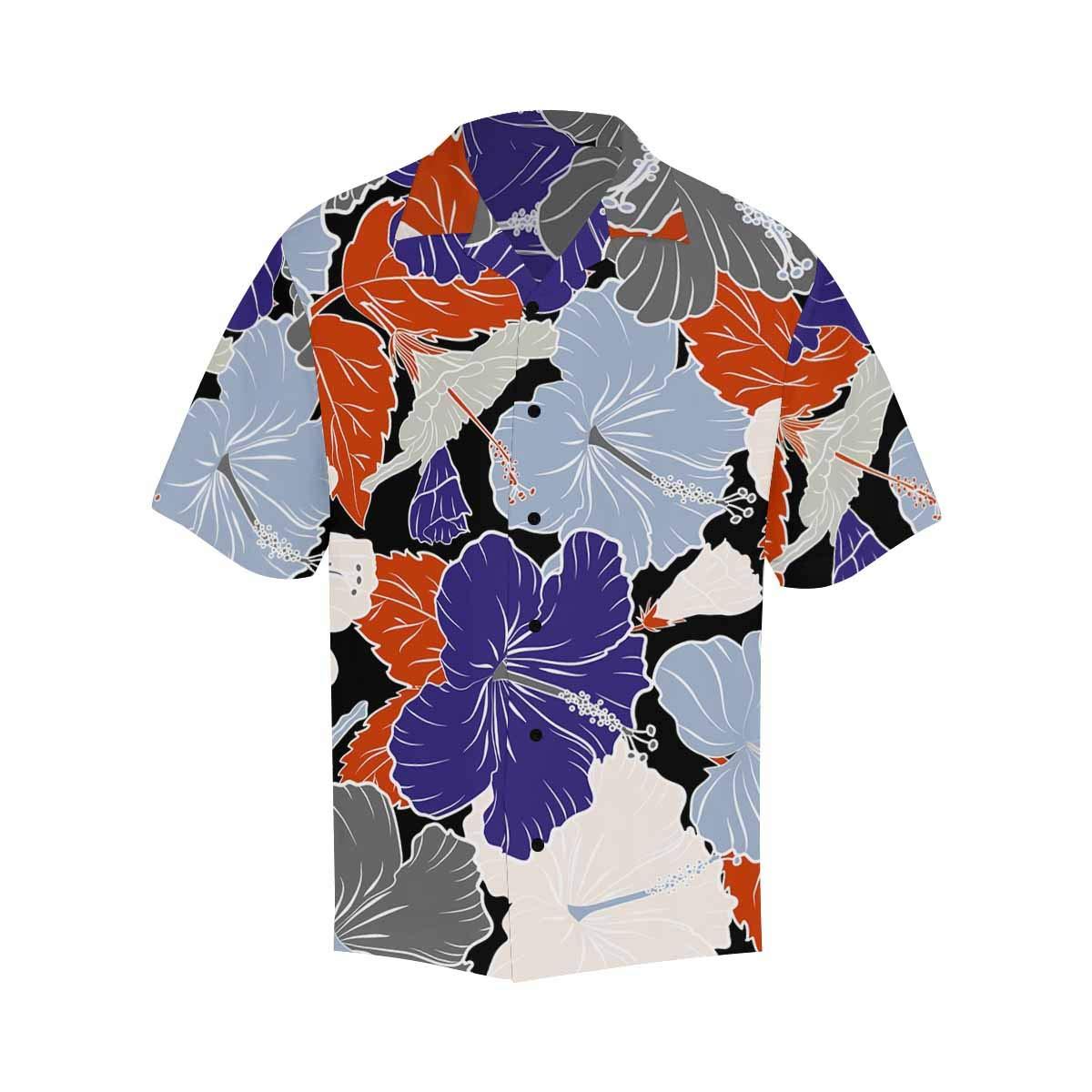 InterestPrint Printed Violet Flowers Summer Printed Shirt for Men