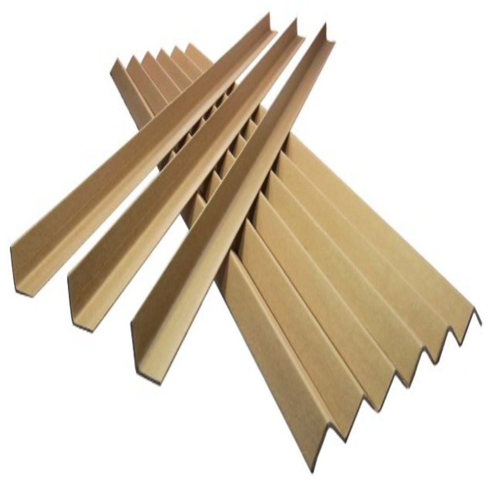 50 STRONG CARDBOARD L SHAPED PALLET EDGE GUARDS PROTECTORS - 1.5 METRES LONG x 35MM PROFILE x 3MM THICKNESS - RIGID SOLID BOARD PACKING PACKAGING PARCEL MAILING PROTECTION SUPPLIES UKPS