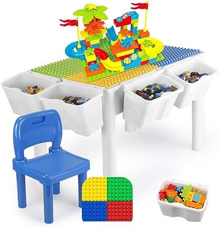 SuDeLLong Mesa de Madera for niños Multifuncional Juguetes 3-6 años Niño y niña ensamblados Mesa de Juego de Rompecabezas de partículas Tabla de Actividades múltiples para niños: Amazon.es: Hogar