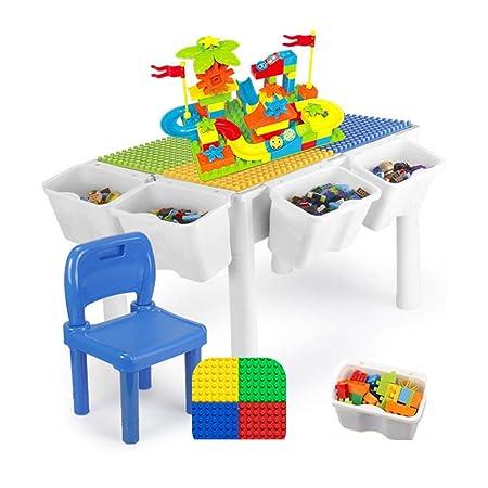 Bloque de construcción Mesa de niño de madera Juguetes 3-6 años ...