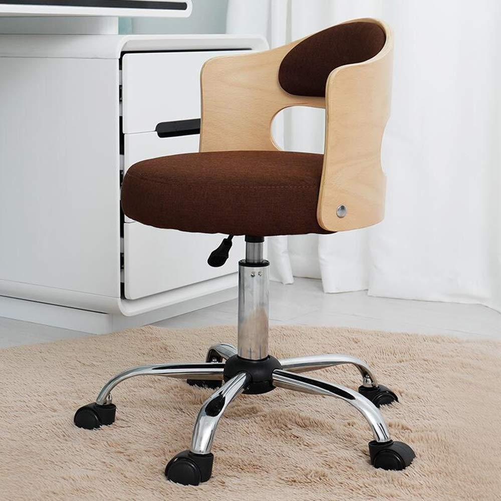 JIEER-C stol svängbar stol kontorsstol, justerbar lyftrotation verkställande stol ergonomi hushåll tyg lärande stol för studier studentrum, grå Brun