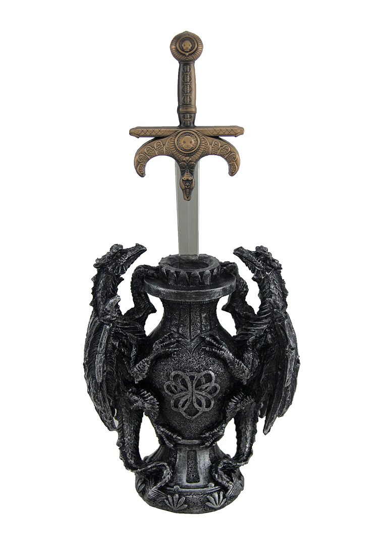 Signet of Dragos Medieval Dragons and Sword Desktop Letter Opener DWK CORPORATION