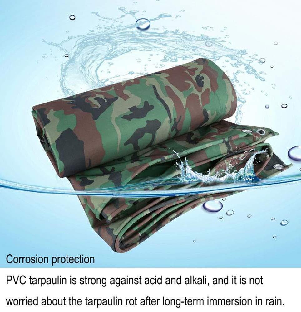 3 × 3m  ZLL BÂche extérieure imperméable et résistante en pvc avec bÂche, bÂche de prougeection solaire imperméable, tente de camouflage de camping anti-Âge, 440G   M²,2 × 3m