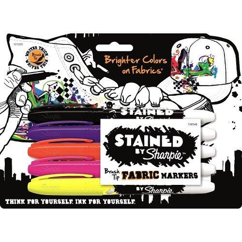 Sharpie Brush Tip Fabric Markers,