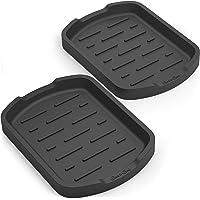 GOOD TO GOOD Sponge holder - Soap holder - Silicone Organizer Tray Set of 2 - for Sponges, Soap Dispenser, Scrubber, and…