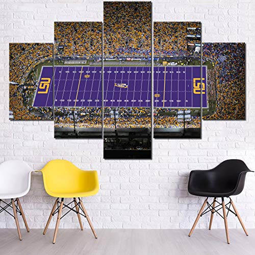 Sports Wall Art Tiger Stadium Paintings On Canvas LSU Tigers Football Team Pictures 40 PcsMulti Panel Canvas Contemporary Artwork USA Home Decor For Unique Lsu Bedroom Style Painting