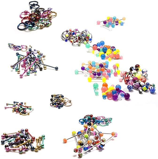 """13mm Anodized Surgical Steel Lot of 20 Eyebrow Ring 16g 1//2/"""""""