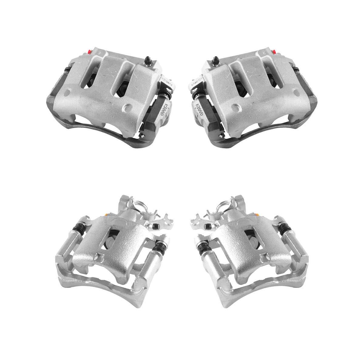 Hardware Brake Kit 4 Ceramic Brake Pads Callahan CCK04176 REAR Premium Original Calipers FRONT
