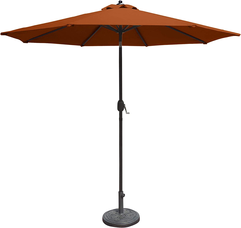 Island Umbrella N5422TC Mirage Octagonal Market Umbrella, 9', Terra Cotta Olefin