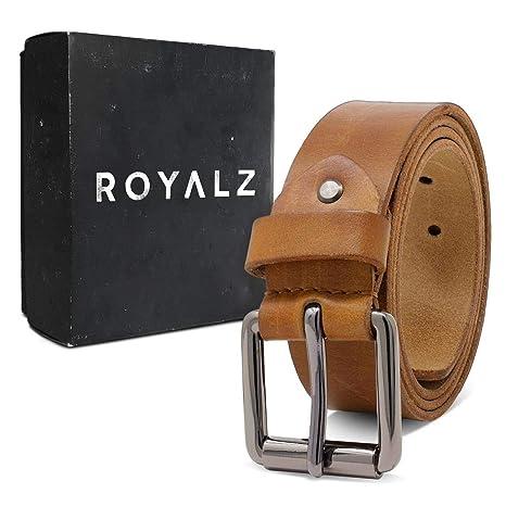 ROYALZ Vintage ceinture en cuir de buffle pour homme robuste de 4mm,  Ceinture pour jeans avec boucle d épine antique cuir-complet 38mm   Amazon.fr  Vêtements ... ab876472953
