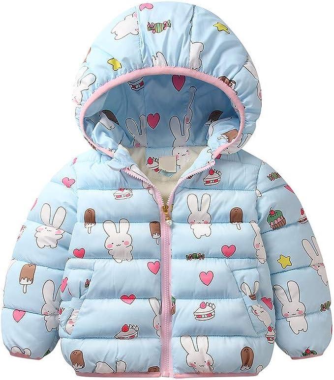CHIC-Baby M/ädchen Mantel Jacke Kapuzenjacke Winterjacke Kinderjacken Kleinkind Fleecejacke mit Kapuze
