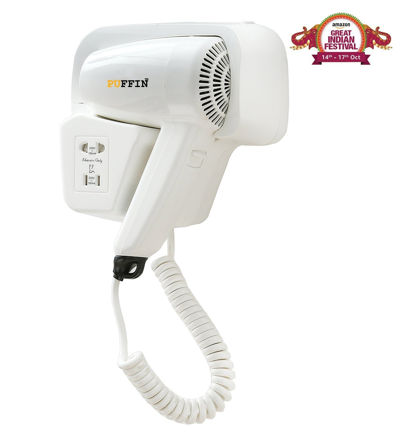 Puffin Professional Hair Foldable Dryer Blue 220W