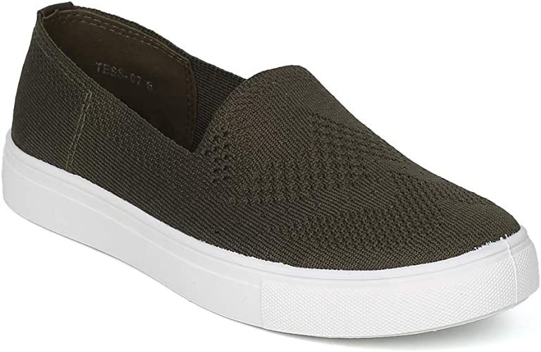 Women Knitted Fabric Low Top Slip On
