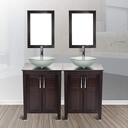 48 Modern Stand Bathroom Vanity Cabinet And Sink Combo Double Top
