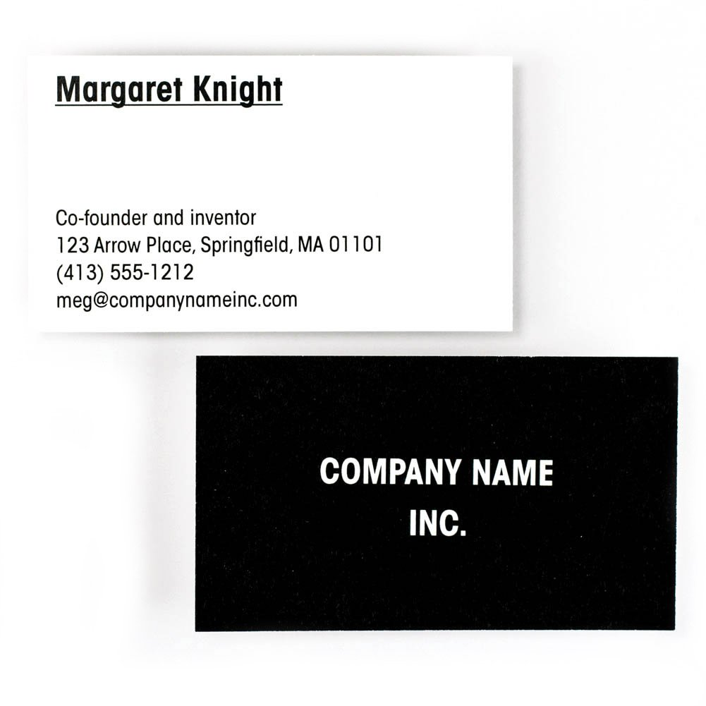 Buttonsmith Custom Premium Business Cards - Full Color, Double-sided, 110 lb Smooth Touch