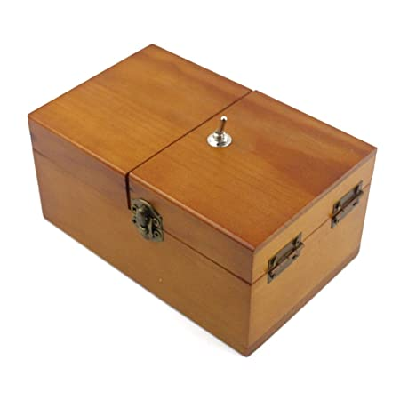 Willcomes Wooden Turns Itself Off Useless Box