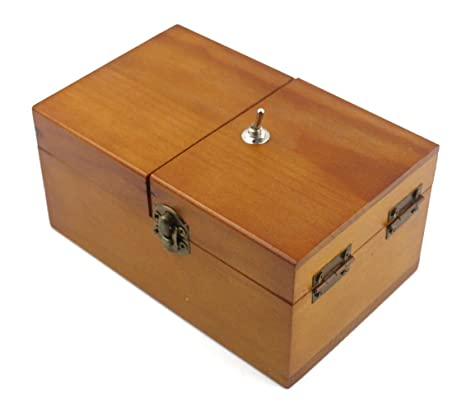 Review Willcomes Wooden Turns Itself Off Useless Box Leave Me Alone Box Perpetual Machine for Geek Gifts or Desk Toys