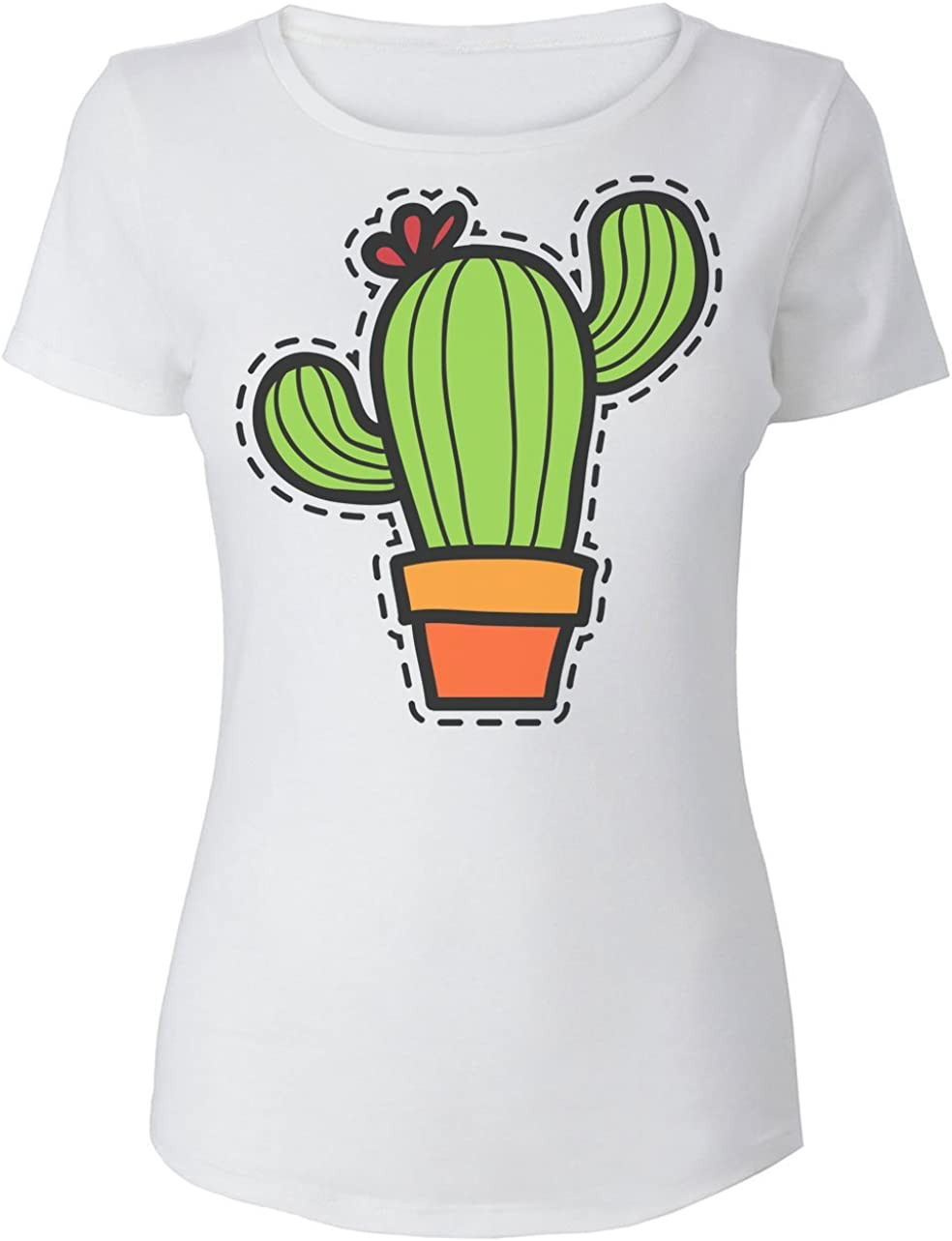 Finest Prints Nice Colorful Cactus Patch Camiseta para Mujer ...