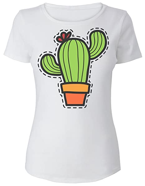 Prints Finest Patch DonnaAmazon Nice Maglietta Colorful Da Cactus XP8nwZN0Ok