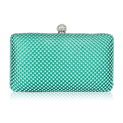 Womens Beaded Clutch Wedding Clubs Design Emerald Handbag Bag Arrival New For Party Pearl Evening 1 ZHEHqw