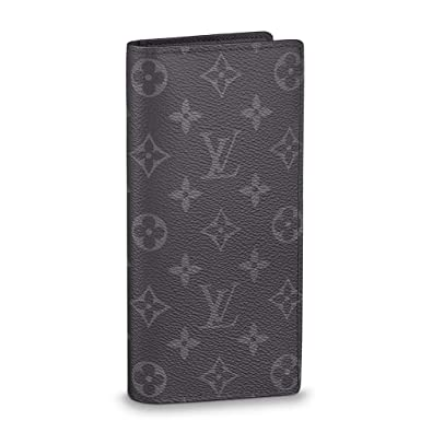 519273aa48bf Amazon.com  Louis Vuitton Monogram Eclipse Canvas Brazza Wallet  Article M61697 Made in France  Shoes