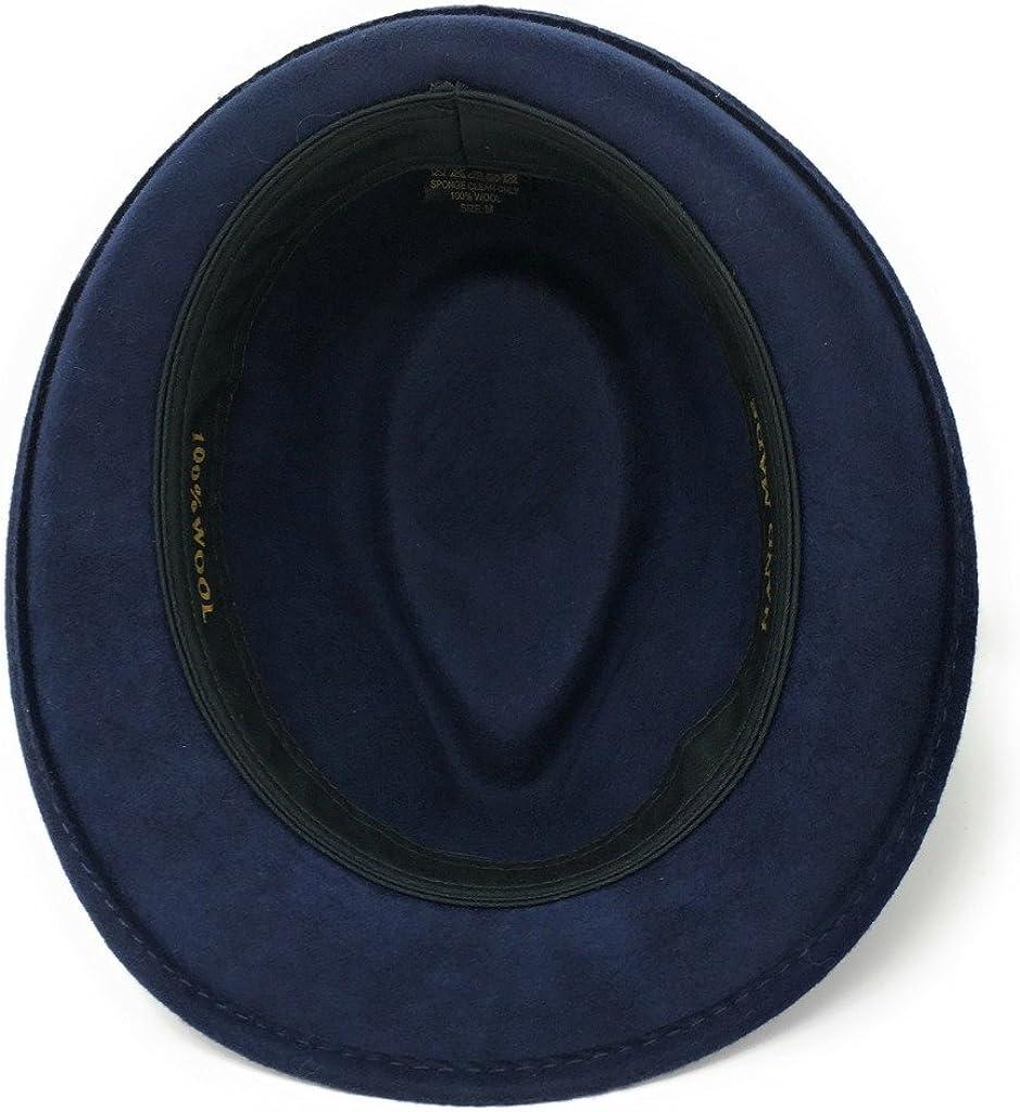 Trilby Hat Navy Brown Black Camel 61cm XL, Navy Grey 100/% Wool Felt Camden Trilby for Men Choice of Sizes
