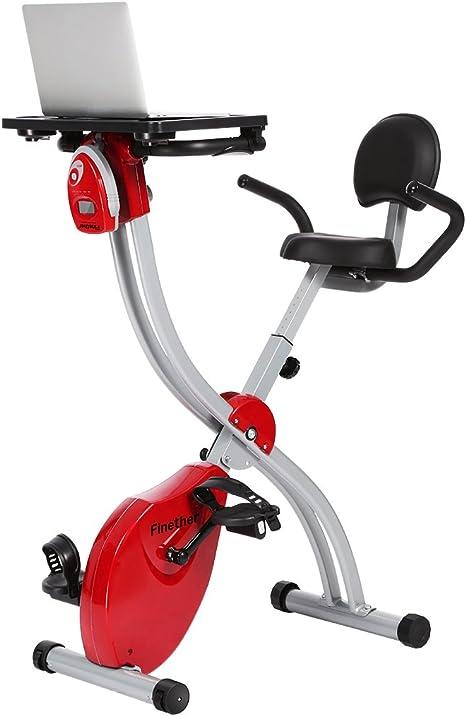 Finether bicicleta estática magnética plegable con respaldo ...