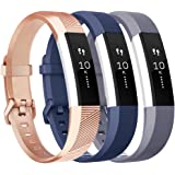 Vancle Replacement Bands with Metal Buckle for Fitbit Alta HR and Fitbit Alta, 3 Pack