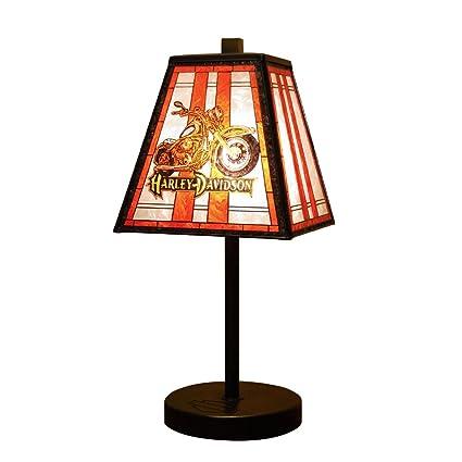 Amazon harley davidson art glass table lamp sports fan harley davidson art glass table lamp mozeypictures Image collections