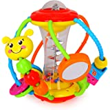 HOLA Baby Toys 6 to 12 Months, Baby Rattles Activity Ball, Shaker, Grab and Spin Rattle, Crawling Educational Toys for 3, 6,