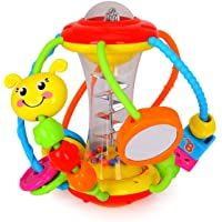 HOLA Baby Toys 6 to 12 Months, Baby Rattles Activity Ball, Shaker, Grab and Spin Rattle, Crawling Educational Toys for 3…