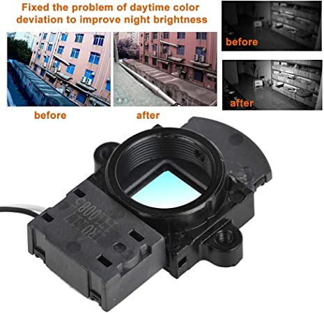 fosa 2PCS Portable M12 IR-Cut Switcher 3MP Mini Lightweight Day//Night Dual Filter Switcher Plastic 100/% for Camera