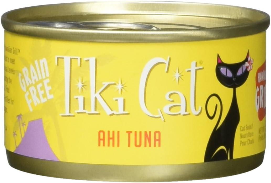 Tiki Cat & Tiki Dog 12/2.8 Oz Grill Ahi Tuna-Hawaiian Cat Food, One Size