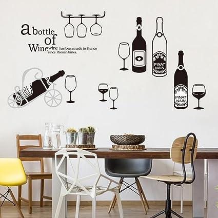 LeRan Stickers murali adesivi personalità creativa per ristorante ...