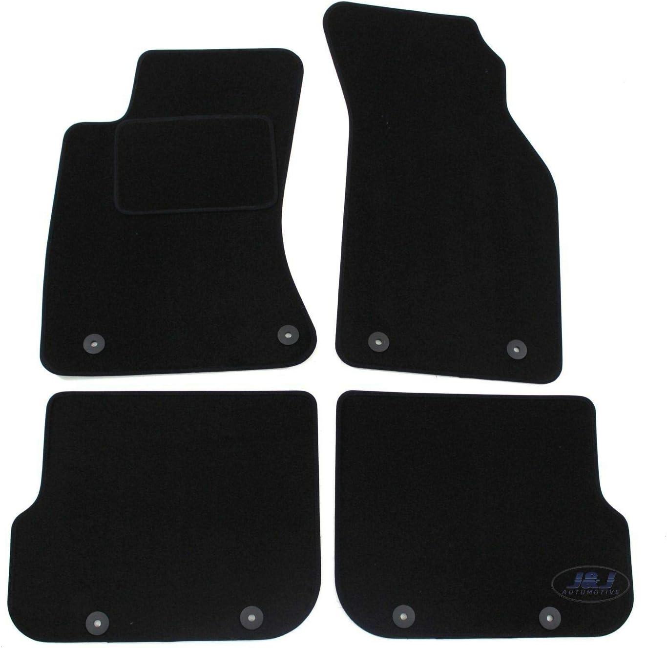 J/&J AUTOMOTIVE Tapis de Sol Noir Velours Compatible avec Audi A4 B5 1995-2000 4 pcs