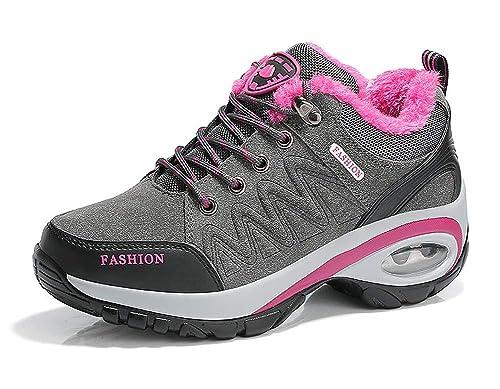 Aitaobao Mujer Botas de Nieve Antideslizante Calientes Zapatillas de Running Gimnasia Zapatos Deportivos Aire Libre y Deportes Zapatos de Trekking: ...