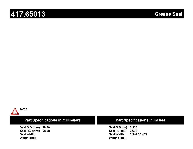 Centric 417.65013 Premium Oil Seal