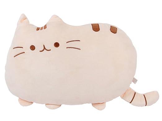 Cojín decorativo con diseño de peluche gracioso, almohada suave, idea de regalo de Navidad, cumpleaños... Adorable forma de gato, ideal como ...
