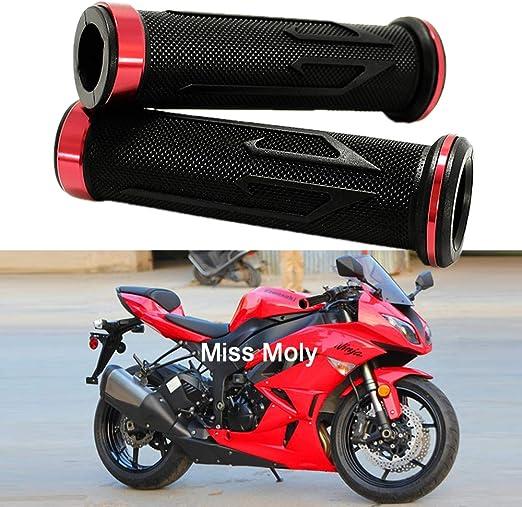 Moto Manubri Alluminio Gomma per CBR Shadow Ninja GSXR YZF 7//8 Motociclo Manopole Nero