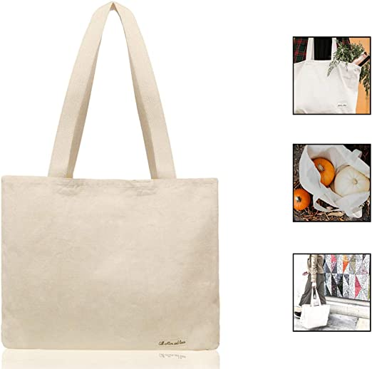 100% orgánico algodón Natural bolsa de lona bolsas de compra ...