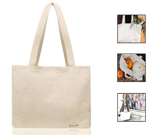 100% orgánico algodón Natural bolsa de lona bolsas de compra reutilizable bolsa de comestibles, algodón bolsa de la compra, bolsa de la compra de ...