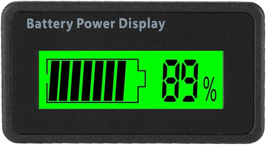 LCD Batterie Kapazit/äts Monitor LCD Akku Kapazit/ät Voltmeter Meter 12-48 V Universal LCD Digital Battery Capacity Anzeige blau