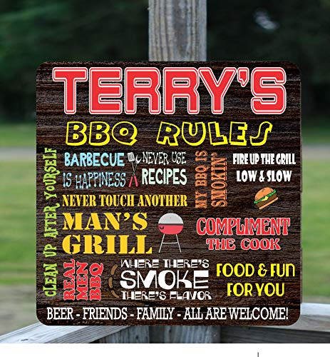 Amazon com: Custom BBQ Sign with Funny BBQ Slogans & Your