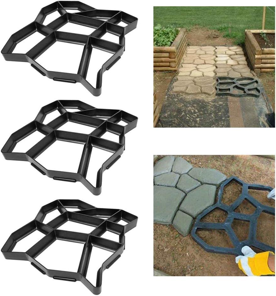 Desigual con 9 grillas FROADP 2 piezas//juego Bricolaje pavimentaci/ón Piedra de escalonamiento Molde de concreto Jard/ín Pasarela de moldes