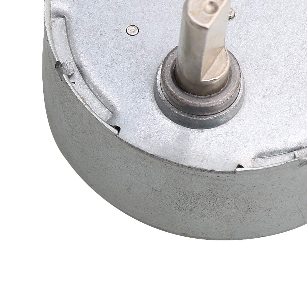 CNBTR Silver Metal Turnable Flat Shaft Synchronous Motor AC24V 5-6RPM Fan Heater Air Conditioner Display Stand Craft DIY Part