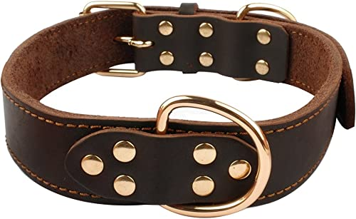 Beirui-Dog-Collar-Leather-Soft-Genuine-Latigo-Leather-Made