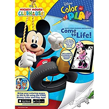 Disney Mickey Mouse Clubhouse Color And Play Come To Life In 3D Coloring Book